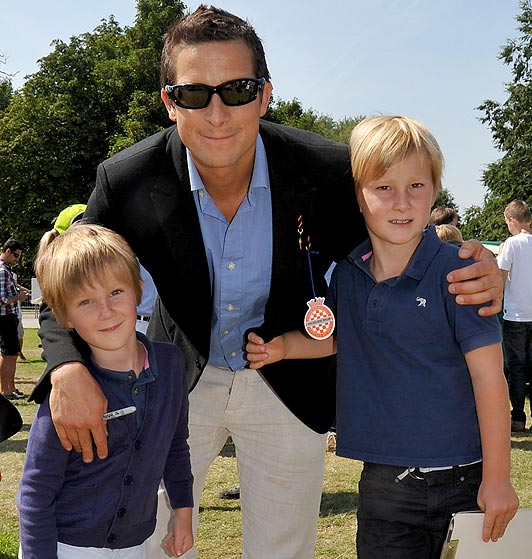 Bear Grylls and his sons