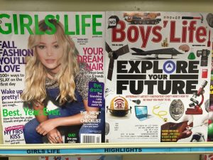 Girls' Life and Boys' Life - the real magazine covers